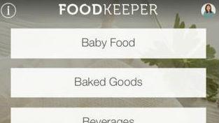 A screenshot of USDA's Foodkeeper app.