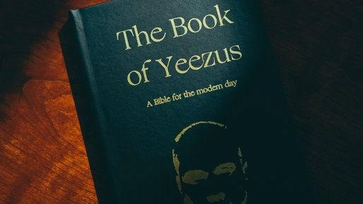 The Book of Yeezus replaces God with Kanye. Photo: Etsy/TheBookofYeezus