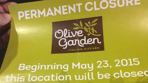 the olive garden in downtown spokane is closing down saturday - Olive Garden Yakima