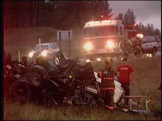 Scene of deadly accident - November 2005 (KHQ)