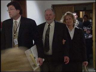Clifford Helm walks out of the courtroom (KHQ)