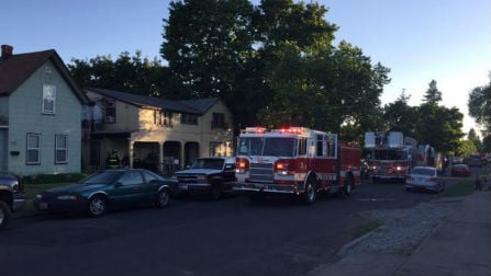 Fire units responding to a fire on W. Carlisle.