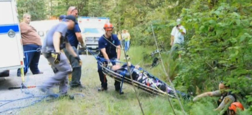Former Navy SEAL Matt L'Hommedieu, 46, is lucky to be alive after crashing motorcycle.