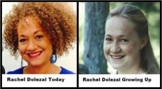 Rachel Dolezal's parents provided the photo on the right they say is of her growing up.