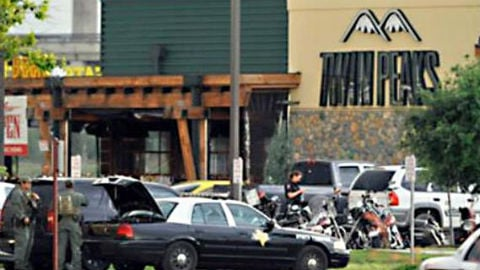 Police say officers responding to a deadly melee outside a biker gathering in Texas disabled the automatic setting on their rifles, and that the majority of shell casings at the scene were from suspects' guns.