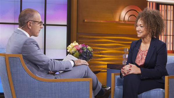 Matt Lauer interviews Rachel Dolezal on the Today Show Tuesday morning