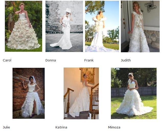 Hot clicks incredible wedding dresses made from toilet for Wedding dresses for hot weather