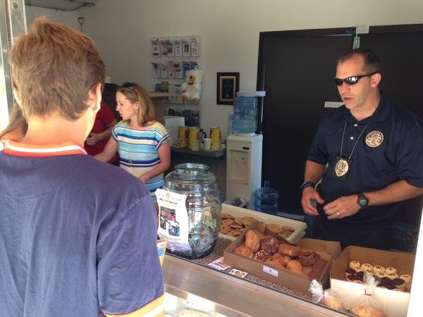 Coeur d'Alene Police held a fundraiser for the Kirk family Saturday.