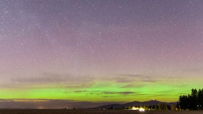 PHOTO: KHQ's Ryan Overton took this photo of the Northern Lights back in February 2015