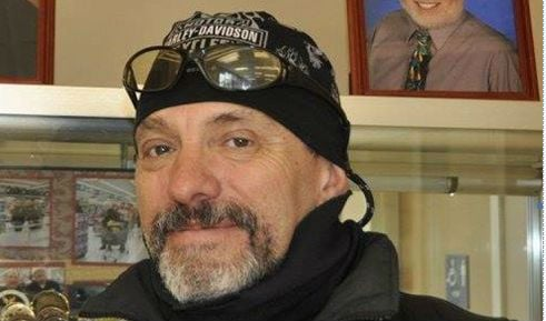 The family of Ryan Holyk say they don't want Rattlesnake Motorcycle Club founder Scott Maclay (Pictured) using their son's name and legacy to further their political agenda.