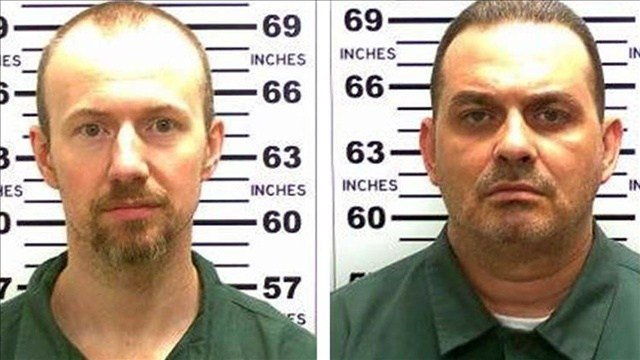 Convicted murderers David Sweat (left) and Richard Matt (right) who escaped from the maximum security Clinton Correctional Facility