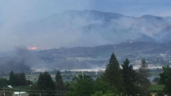 Firefighters are battling multiple fires near Wenatchee