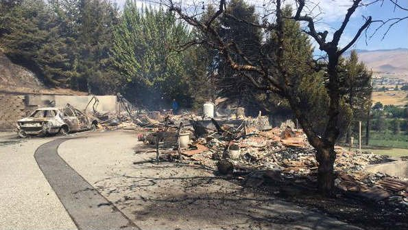 One of the areas burned by the Sleepy Hollow Fire in Wenatchee (PHOTO: KHQ)