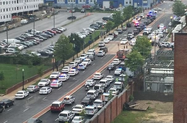 Cops responding to incident at navy yard this morning.