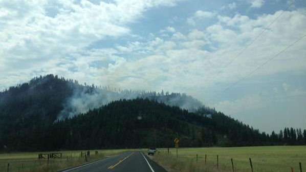 The 231 fire is burning about 7 miles south of Springdale. It has burned around 880 acres and is 25% contained as of Monday afternoon.