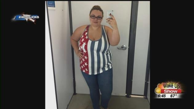 Woman's selfie in Old Navy tank top goes viral as she fights fat-shamers.