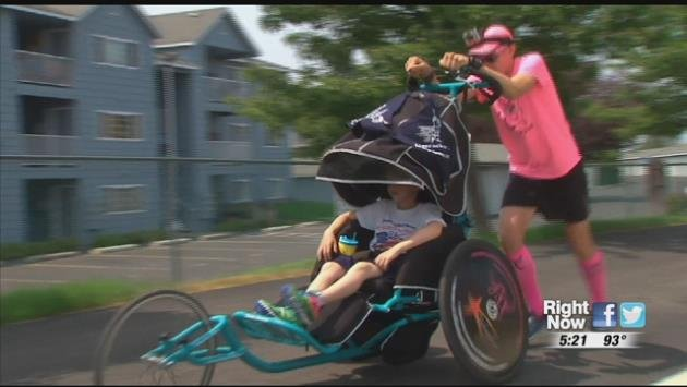 A father and his son running 60 miles a day for 60 days. That's how the Evans family has decided to spend their summer, a more than 3,200 mile trek across the country.