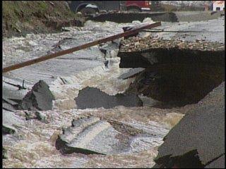 Highway 206 damage