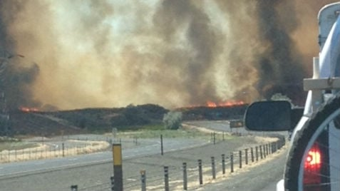 PHOTO of the fire near George, WA from KHQ viewer Craig Spadle