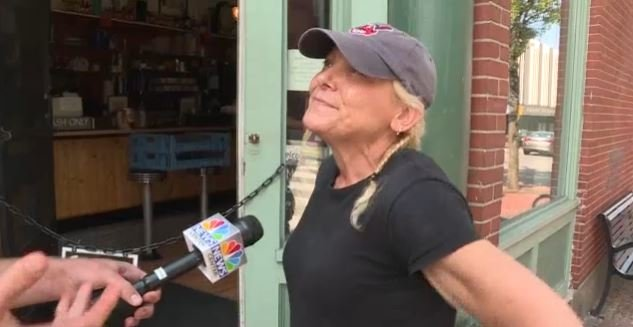 Darla Neugebauer, the owner of Marcy's Diner says she snapped at the young girl when she just couldn't take it anymore.