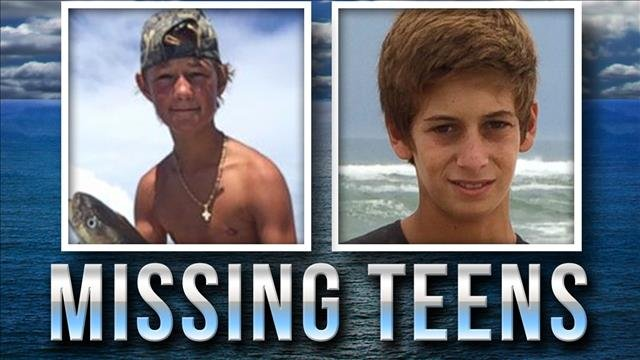 The parents of one of two teenagers lost at sea last summer says their boat and an iPhone has been found.