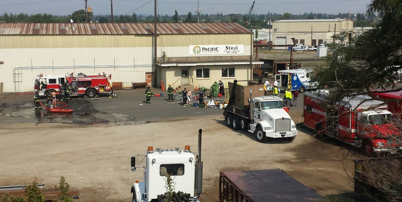 One person has died after a chemical leak at Pacific Steel.