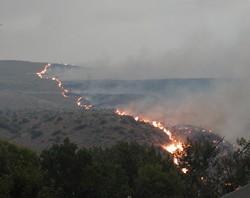 Pictures courtesy of Ernie Buchanan of the Fire near Okanogan