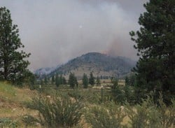 Picture courtesy of Merle Root of the fire near Malott