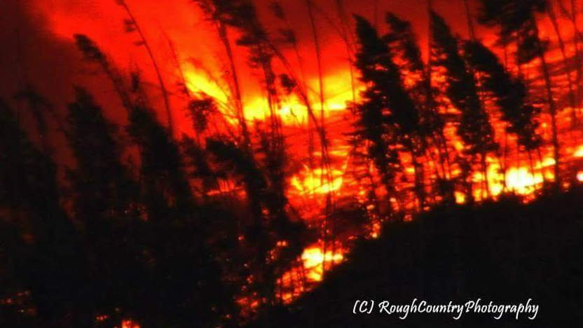 Photo from the Stickpin fire, part of the Kettle Complex Fire, in Ferry County courtesy of Rough Country Photography