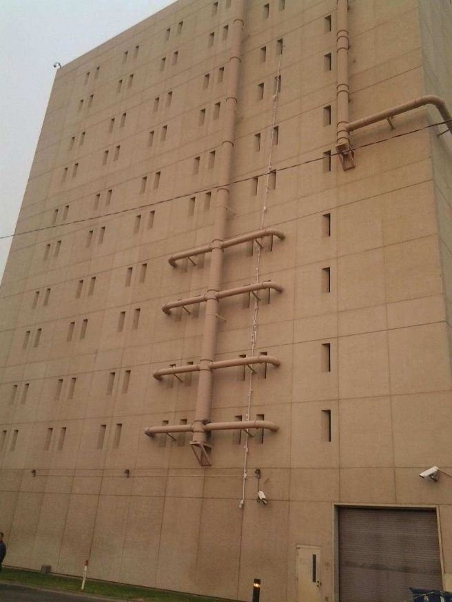 Bed sheets hang from spokane county jail as murder suspect james