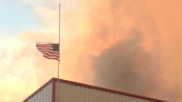 Flags are at half-staff to honor the three firefighters killed near Twisp on Wednesday