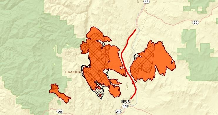 Map showing road closures courtesy of WSDOT