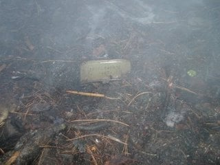 "During clean-up firefighters found what looked like a ""Military Claymore mine."""