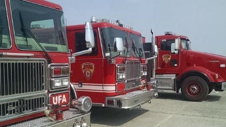 More firefighting resources arrived at Fairchild Air Force Base.