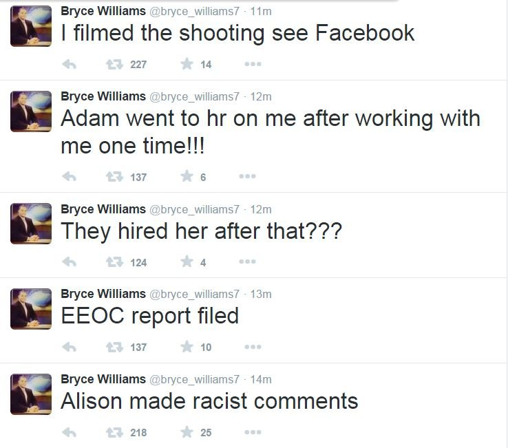 Bryce Williams recorded the shooting and then posted it on his Facebook and Twitter pages.