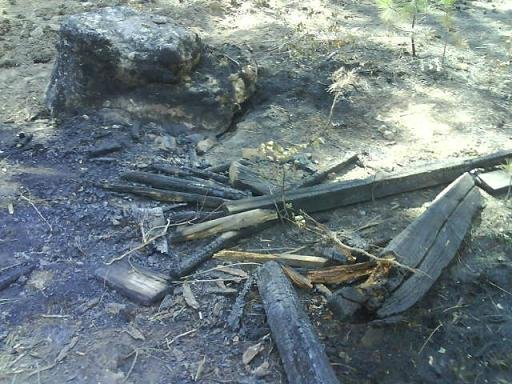 Remnants of recreational fire thought to be the cause of Valley View fire (Above & Below)