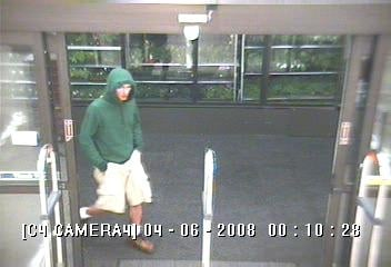 Surveillance captured this photo of the suspect during the June 4th robbery.