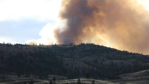 Wildfire in North-Central Washington near Omak