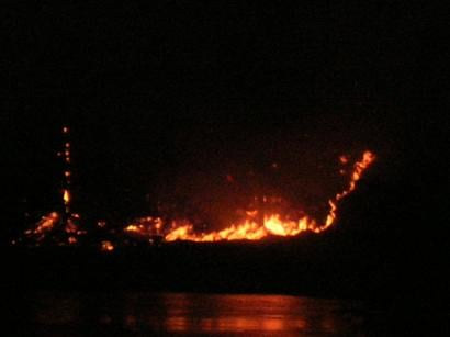 Smith Lake Fire, about five miles west of Coulee Dam