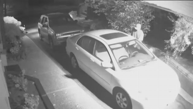 Erin McCarty caught car prowlers on security cameras at his house in the Perry area