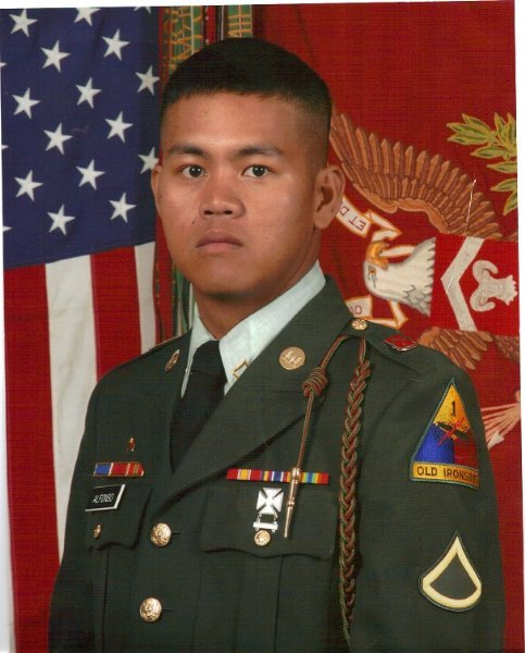 Combat Engineer Specialist  23-year old Carlo Alfonso was killed in Iraq on August 26th, 2008.