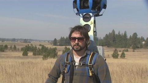 Paul Knowles is testing out Google Trekker