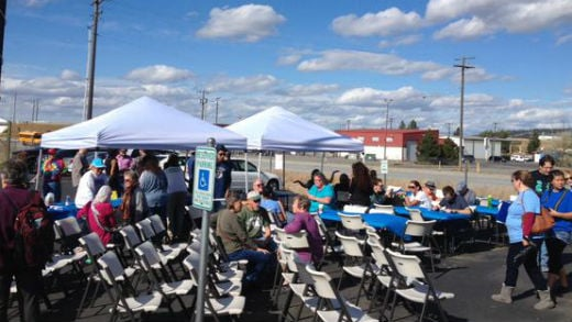 About 120 people showed up to an interfaith celebration Saturday.