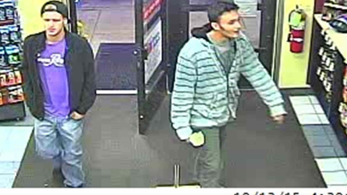 Police want to talk with these two men, seen at the Holiday gas station in Hayden on October 13, 2015