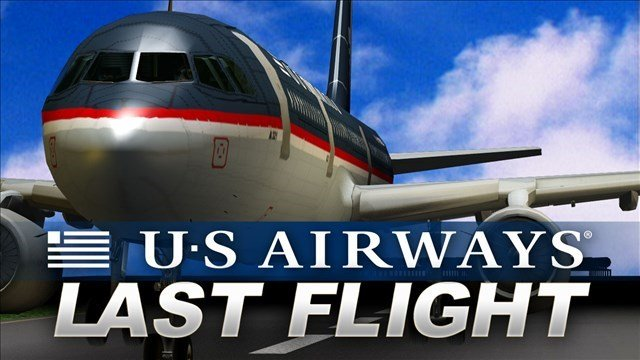The final US Airways flight is heading from San Francisco to Philadelphia, making the last leg of its roundtrip journey.