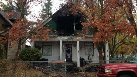 An early morning house fire caused $45,000 in damage Sunday.