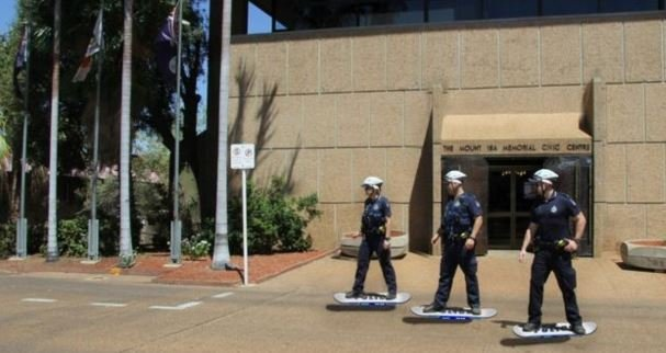 The Hoverboard Unit prepares for action (PHOTO: Queensland Police)