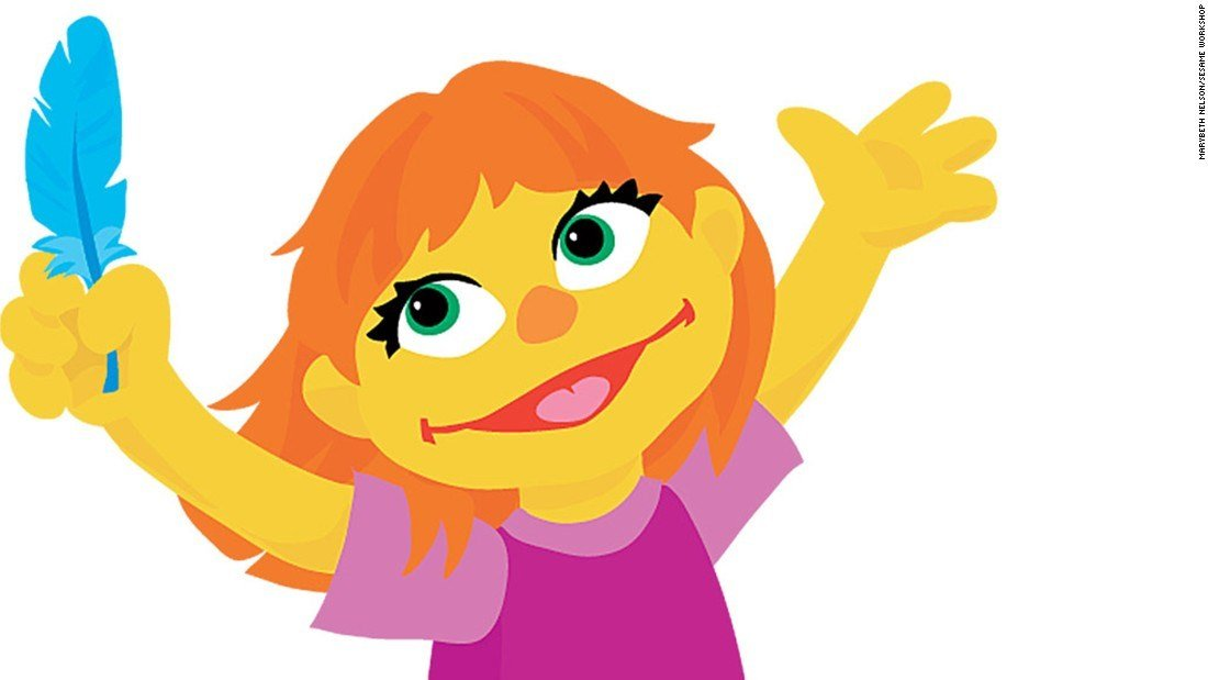 There's a newcomer on the Sesame Street block, a preschooler with autism named Julia.