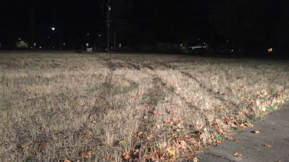 Tire tracks from the car chase police had with the suspects