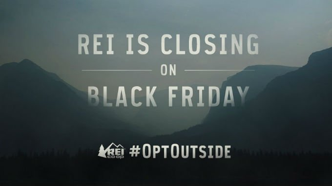 REI has announced it will buck Black Friday and close its 143 stores on the Friday after Thanksgiving. Photo: REI/Twitter
